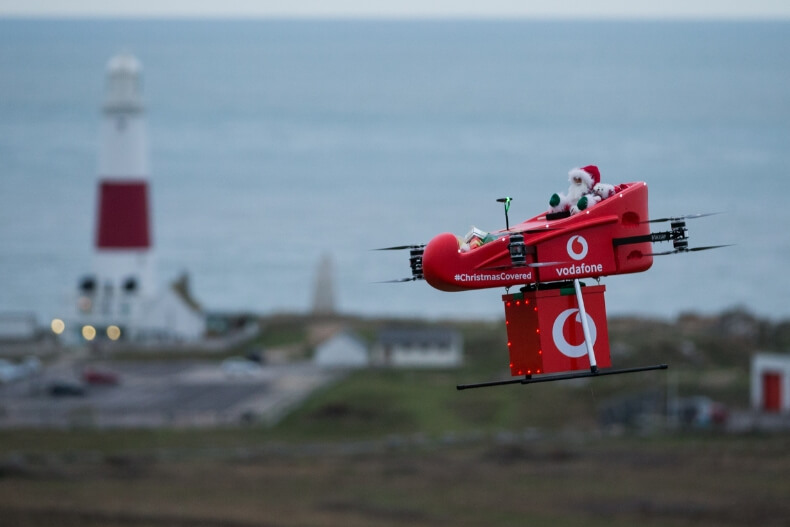Vodafone takes on Rudolph with drone delivery over 4G
